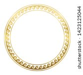 circle frame with golden... | Shutterstock .eps vector #1423125044
