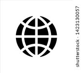 vector globe icon. black...