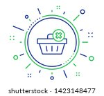remove shopping cart line icon. ... | Shutterstock .eps vector #1423148477