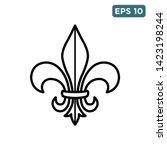 fleur de lis icon vector design ... | Shutterstock .eps vector #1423198244