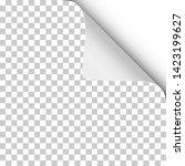 vector sheet of transparent... | Shutterstock .eps vector #1423199627