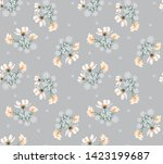 floral vector flowers on grey... | Shutterstock .eps vector #1423199687