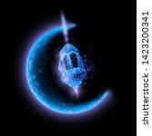 eid al adha greeting card ... | Shutterstock .eps vector #1423200341