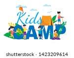 kids camp. children summer... | Shutterstock .eps vector #1423209614