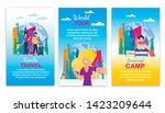 family travel  world tour ... | Shutterstock .eps vector #1423209644