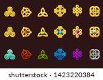celtic symbols in different... | Shutterstock .eps vector #1423220384