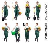 Smiling Woman Professional Gardener Florist - Fine Art prints