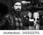 man with beard spend leisure in ... | Shutterstock . vector #1423222751