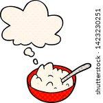 cartoon bowl of porridge with... | Shutterstock .eps vector #1423230251