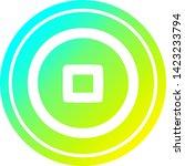 stop button circular icon with... | Shutterstock .eps vector #1423233794
