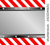 metal background with warning... | Shutterstock .eps vector #1423244651