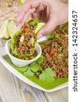 Larb   Lao Minced Beef Salad...