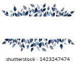 watercolor hand drawn floral... | Shutterstock . vector #1423247474