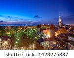 view to the european city... | Shutterstock . vector #1423275887