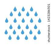 water drops icon. flat...   Shutterstock .eps vector #1423286501
