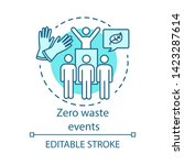 zero waste events concept icon. ... | Shutterstock .eps vector #1423287614