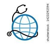 health icon. flat illustration... | Shutterstock .eps vector #1423292594