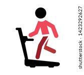 treadmill icon. flat...   Shutterstock .eps vector #1423292627