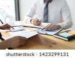 managers and accountants have... | Shutterstock . vector #1423299131