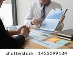 managers and accountants have... | Shutterstock . vector #1423299134