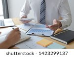 managers and accountants have... | Shutterstock . vector #1423299137