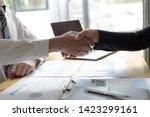 both businessmen have achieved... | Shutterstock . vector #1423299161