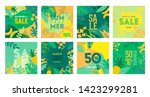 set of summer sale poster with... | Shutterstock .eps vector #1423299281