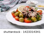 salad with octopus and fresh... | Shutterstock . vector #1423314341