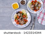 salad with octopus and fresh... | Shutterstock . vector #1423314344