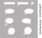 vector speech bubbles round and ... | Shutterstock .eps vector #142331647