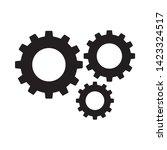 cogwheel linear icon. cogwheel... | Shutterstock .eps vector #1423324517