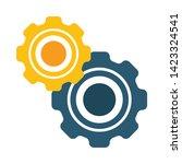 cogwheel linear icon. cogwheel... | Shutterstock .eps vector #1423324541