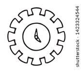 cogwheel linear icon. cogwheel... | Shutterstock .eps vector #1423324544