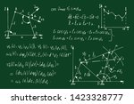physical equations  diagrams... | Shutterstock .eps vector #1423328777