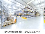 warehouse interior | Shutterstock . vector #142333744