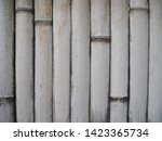 white bamboo wall front view.... | Shutterstock . vector #1423365734