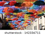 street decorated with colored... | Shutterstock . vector #142336711