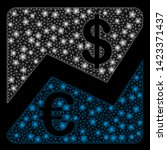 bright mesh euro and dollar... | Shutterstock .eps vector #1423371437