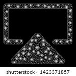 bright mesh enter with glare... | Shutterstock .eps vector #1423371857