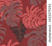 hand drawn seamless pattern... | Shutterstock .eps vector #1423379291