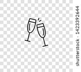 cheers icon from  collection... | Shutterstock .eps vector #1423392644