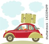"illustration ""grandma drives... 