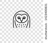 barn owl icon from owl... | Shutterstock .eps vector #1423400831