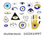 Evil Eyes. Set Of Hand Drawn...