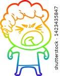 rainbow gradient line drawing... | Shutterstock .eps vector #1423435847