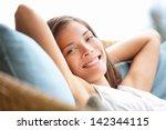 Relaxing Woman Sitting...