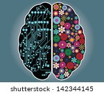 left and right side of the...   Shutterstock .eps vector #142344145