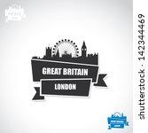 London Ribbon Banner   Vector...