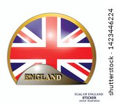 made in england sticker. bright ... | Shutterstock .eps vector #1423446224