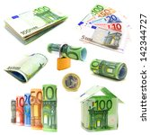 Various Isolated Euro Currency...